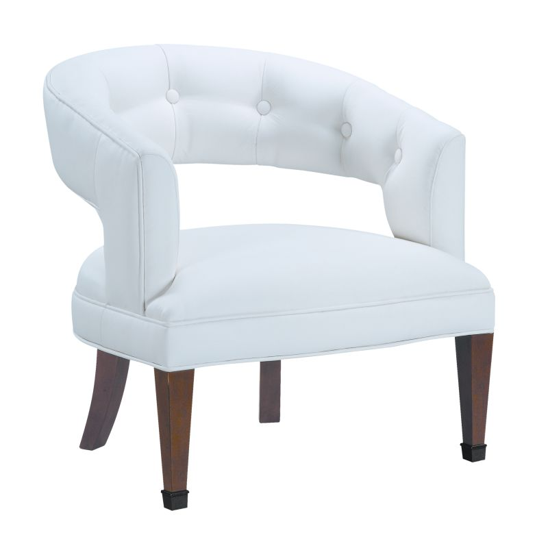 """Sterling Industries 6071090 31"""" Height New Hudson Accent Chair White"""