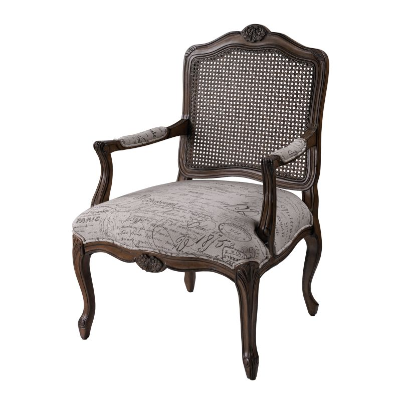 """Sterling Industries 6071398 38"""" Height Marianne Arm Chair Neutral"""