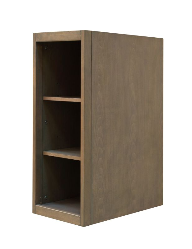 """Sunny Wood AN1221 Aiden 12"""" Hardwood Vanity Cabinet Only Taupe"""