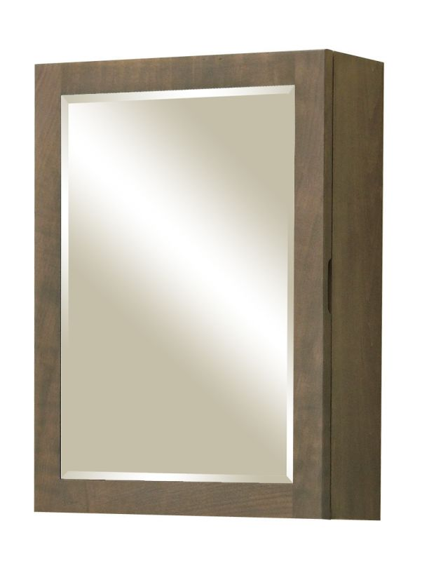 "Sunny Wood AN2026M Aiden 20"" Single Door Mirrored Medicine Cabinet"