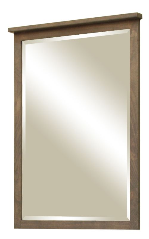 """Sunny Wood AN2436MR Aiden 24"""" Framed Vanity Mirror Taupe Home Decor"""
