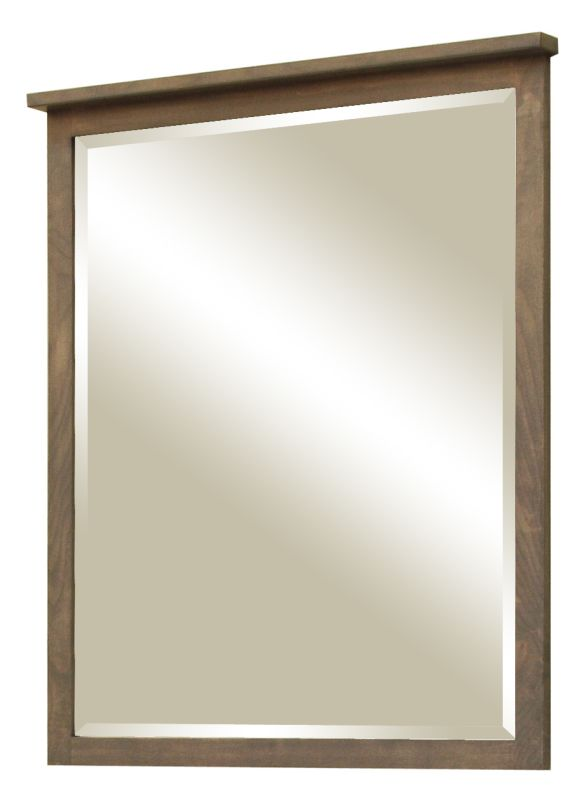 """Sunny Wood AN3036MR Aiden 30"""" Framed Vanity Mirror Taupe Home Decor"""
