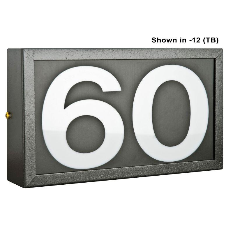 "Sunset Lighting F10030 Small Address Light Standard Frame with 4"""
