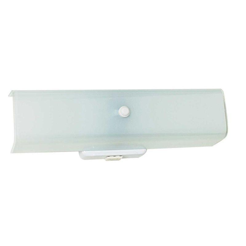Sunset Lighting F2060 30 White 2 Light 120 Watt Bath Bar Bathroom Fixture With Convenience