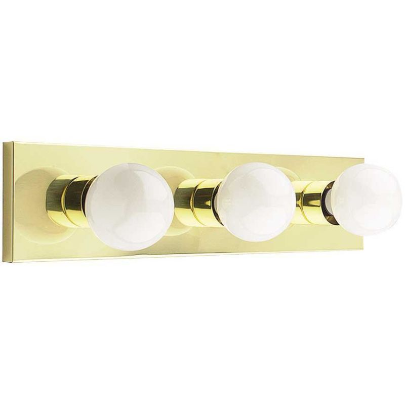 Sunset Lighting F2252 3 Light 180 Watt Bathroom Vanity Strip Polished