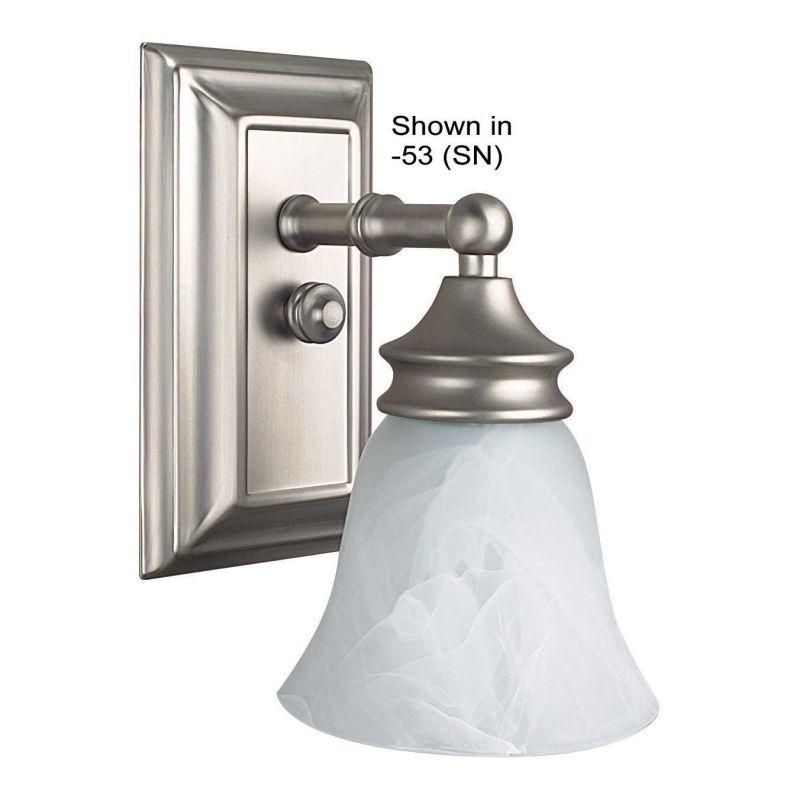 Bright Bathroom Wall Sconces : Sunset Lighting F2501-80 Bright Satin Nickel 1 Light 100 Watt Bathroom Wall Sconce ...