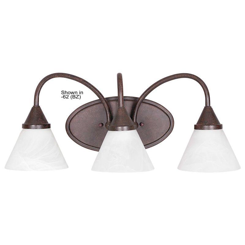 Vanity Lights Wattage : Sunset Lighting F2722-80 Bright Satin Nickel 3 Light 300 Watt Bathroom Vanity Light ...