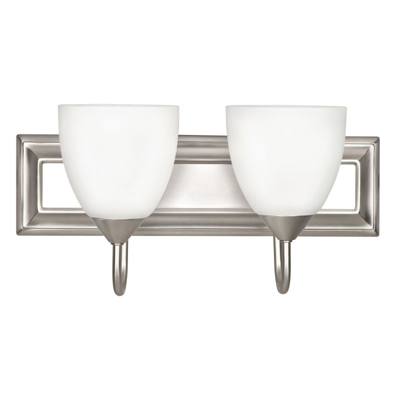 Sunset Lighting F3622-53 Satin Nickel 2 Light 200 Watt Bathroom Vanity Light - LightingDirect.com