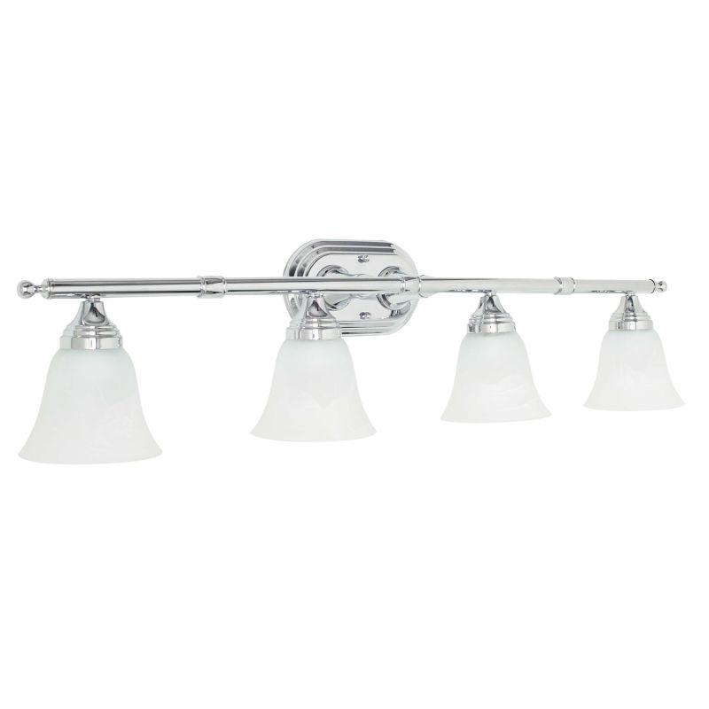 Vanity Lights Wattage : Sunset Lighting F3654-15 Polished Chrome 4 Light 400 Watt Bathroom Vanity Light - LightingDirect.com