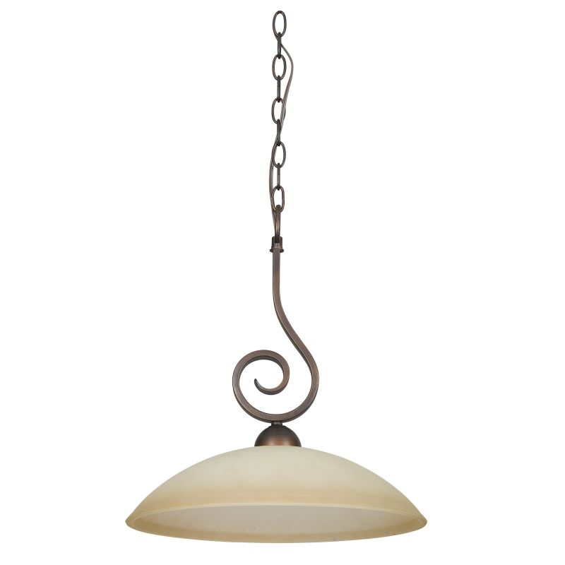 "Sunset Lighting F5270 Provano 1 Light 100 Watt 18"" High Bowl Pendant"