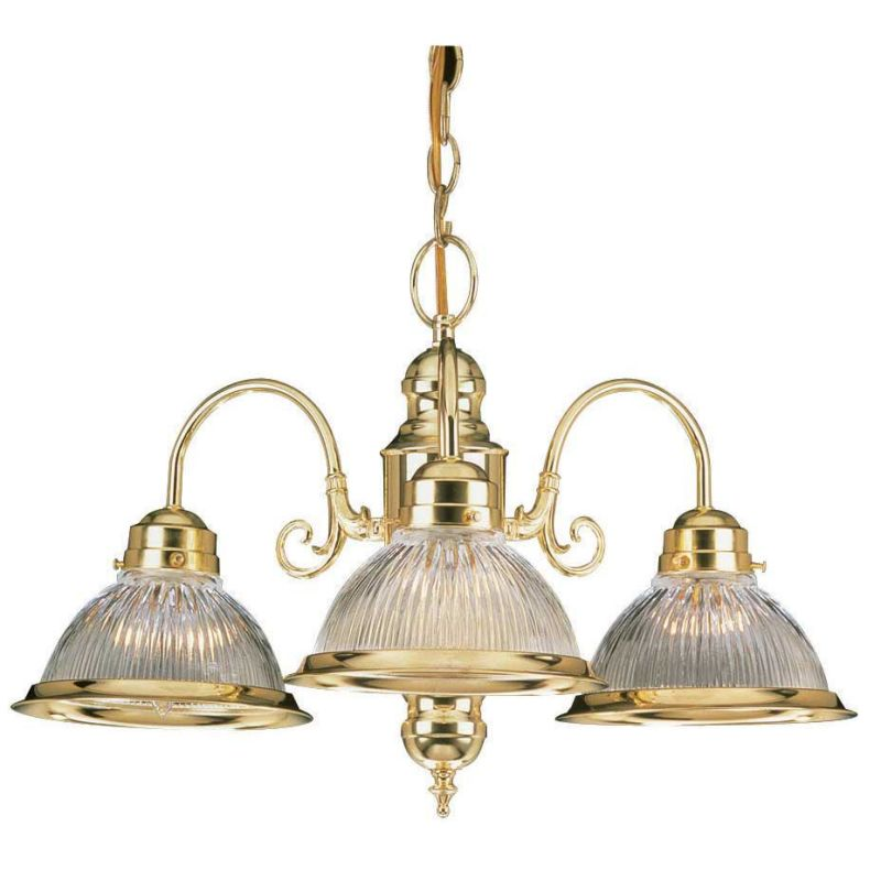 "Sunset Lighting F5501 3 Light 180 Watt 23"" Width Chandelier Polished"