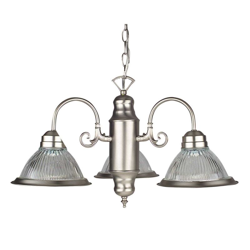 "Sunset Lighting F5501 3 Light 180 Watt 23"" Width Chandelier Satin"