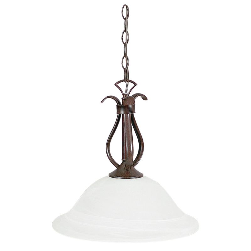 "Sunset Lighting F5592 Santiago 1 Light 100 Watt 15"" High Bowl Pendant"