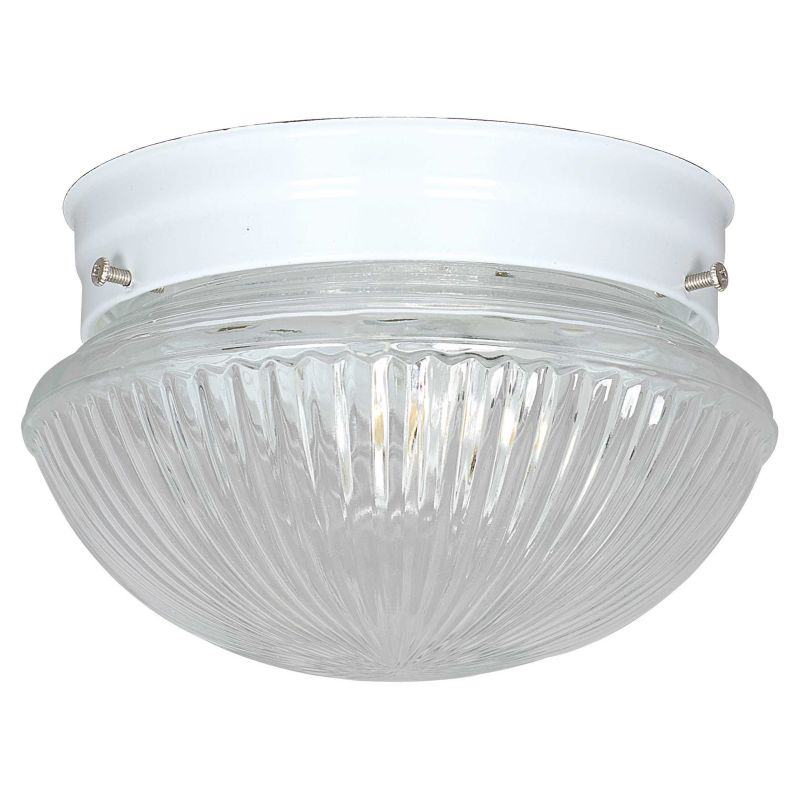 """Sunset Lighting F6108 1 Light 60 Watt 8"""" Wide Flush Mount Ceiling"""