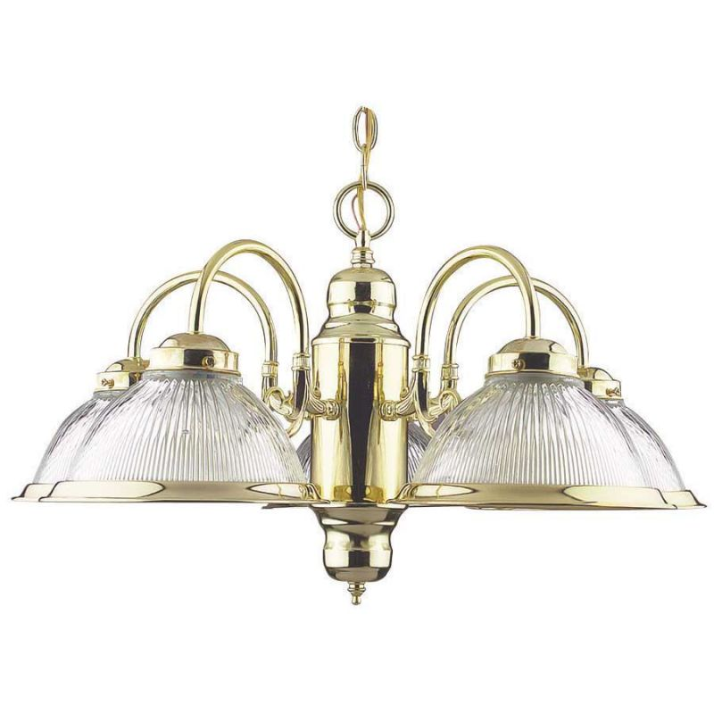 "Sunset Lighting F6313 5 Light 300 Watt 23"" Width Chandelier Polished"