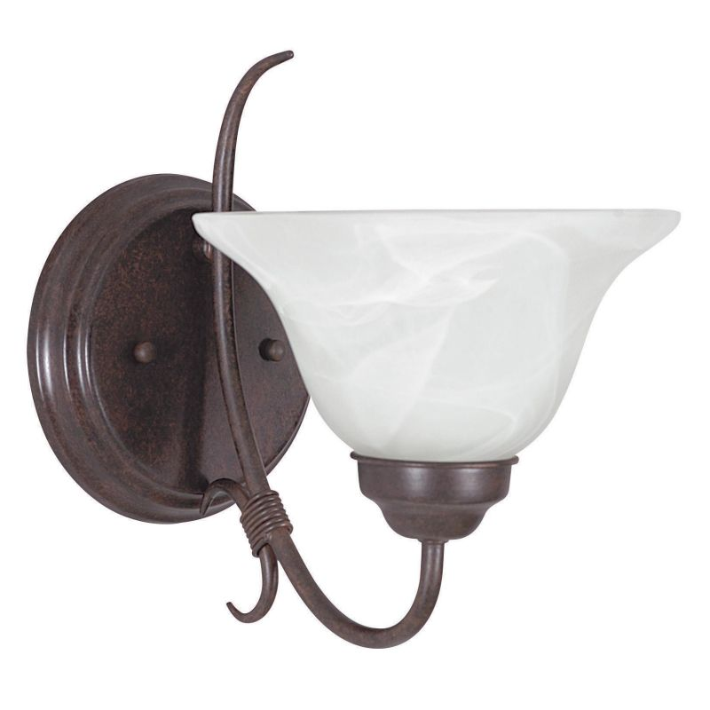 "Sunset Lighting F6341 Madrid 1 Light 100 Watt 9.5"" Height Wall Sconce"