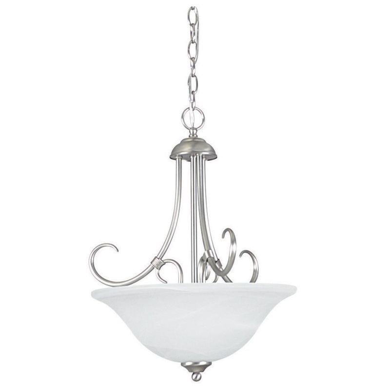 "Sunset Lighting F6351 Madrid 3 Light 180 Watt 21"" High Bowl Pendant"