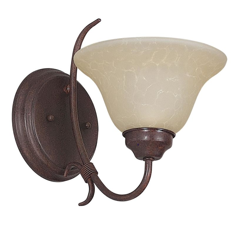 "Sunset Lighting F6371 Madrid 1 Light 100 Watt 9.5"" Height Wall Sconce"
