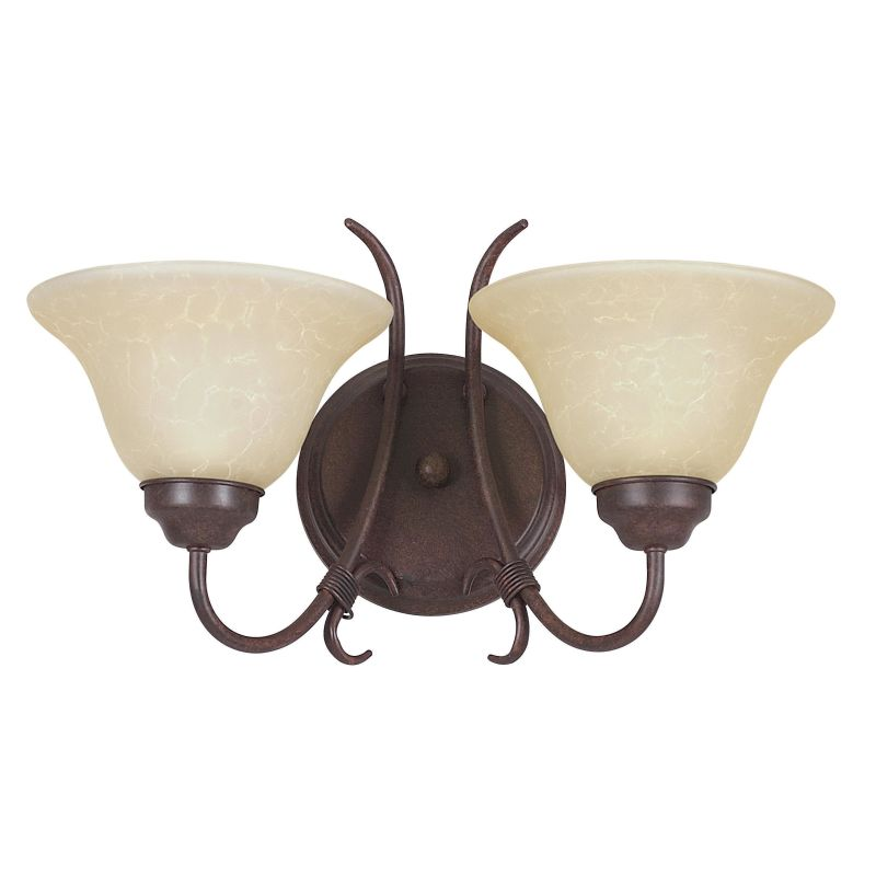 "Sunset Lighting F6372 Madrid 2 Light 200 Watt 9.5"" Height Wall Sconce"