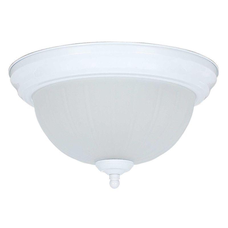 """Sunset Lighting F7100 2 Light 120 Watt 12"""" Wide Flush Mount Ceiling"""