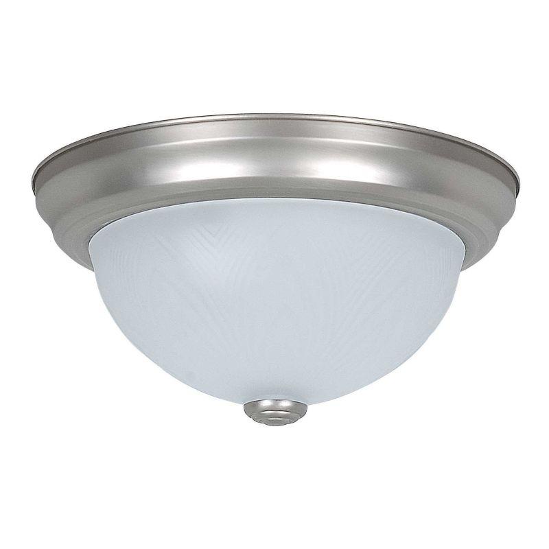 """Sunset Lighting F7620 2 Light 120 Watt 11"""" Wide Flush Mount Ceiling"""