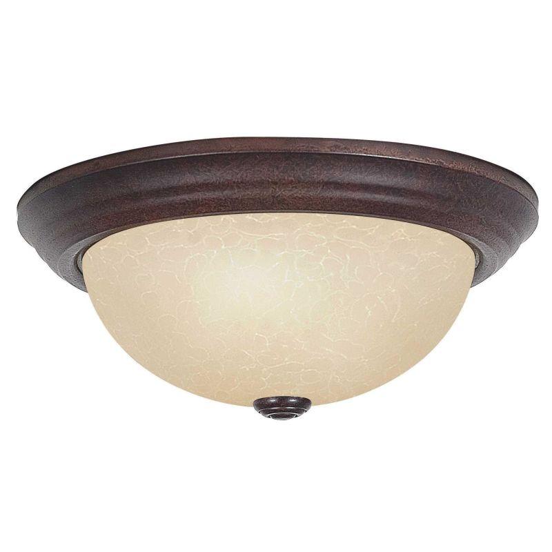 """Sunset Lighting F7652 2 Light 120 Watt 13"""" Wide Flush Mount Ceiling"""