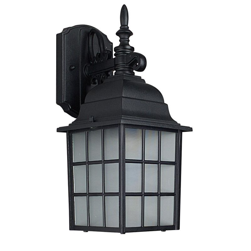 "Sunset Lighting F7818 1 Light 14.25"" Height Outdoor Wall Sconce Black"