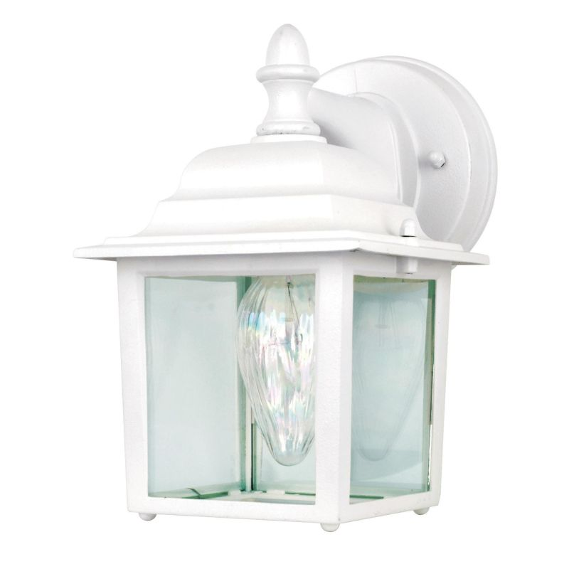 "Sunset Lighting F7850 1 Light 8.75"" Height Outdoor Wall Sconce White"