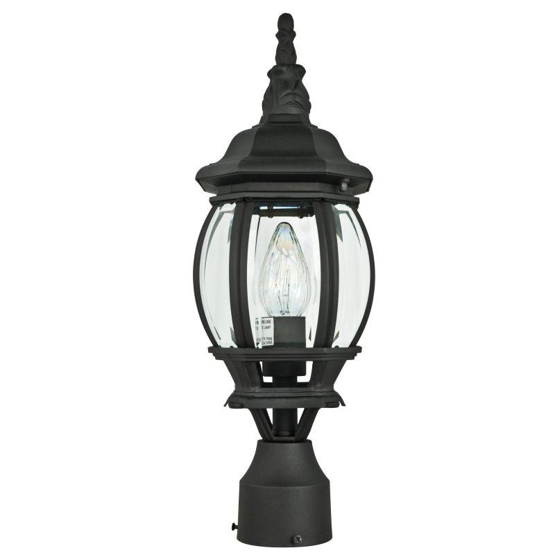 "Sunset Lighting F7896 1 Light 18.5"" Height Outdoor Post Light Black"