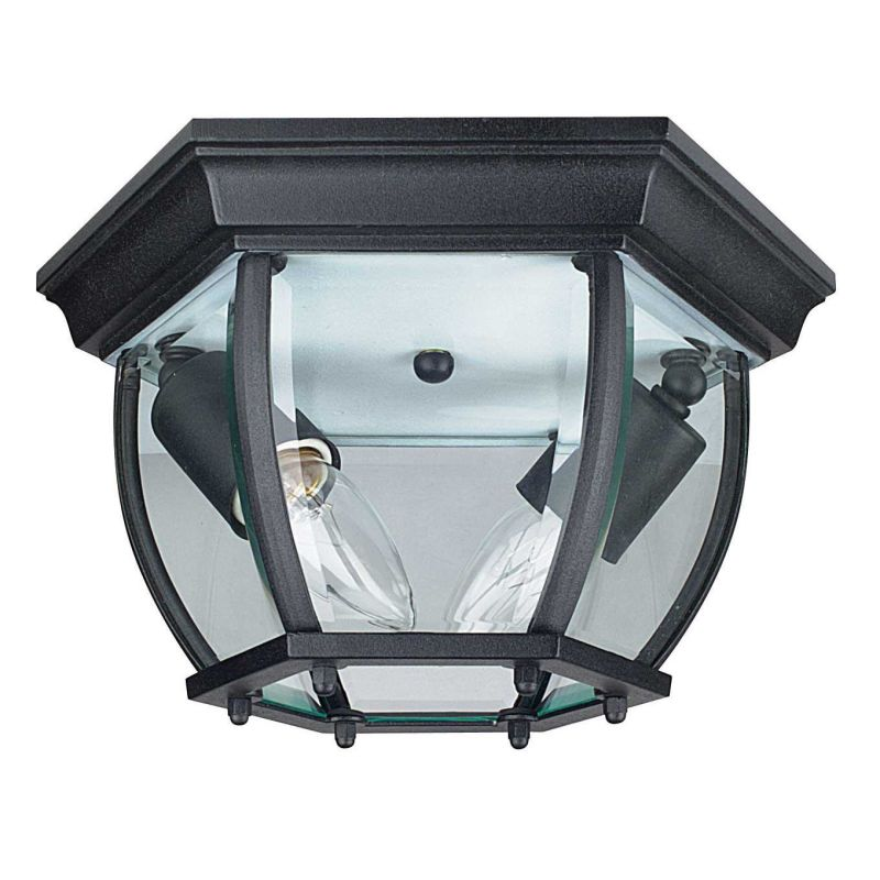 "Sunset Lighting F7898 2 Light Outdoor Cast Aluminum 11"" Wide Flush"