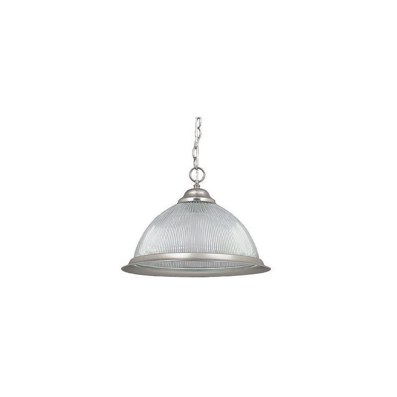 "Sunset Lighting F8895 1 Light 150 Watt 13"" High Bowl Pendant Satin"