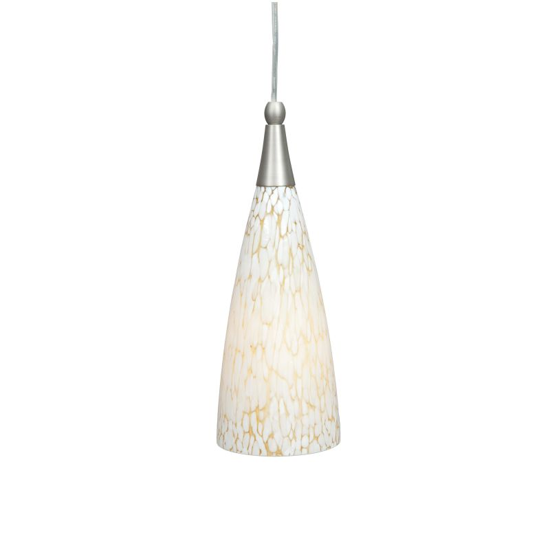 "Sunset Lighting F9182 1 Light 100 Watt 57"" High Mini Pendant Satin"