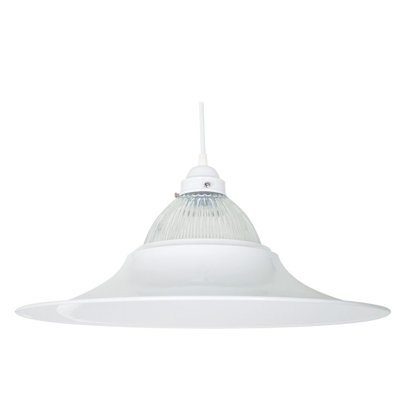 "Sunset Lighting F9670-30 White 1 Light 100 Watt 12"" Height"
