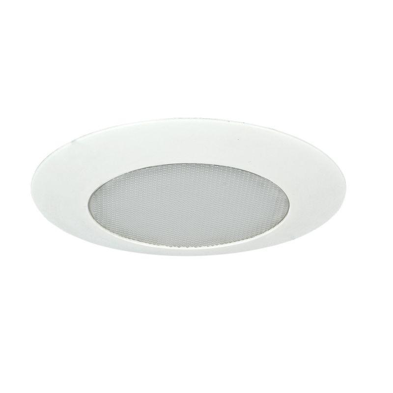 "Sunset Lighting F9973 6"" Lexan Albalite Shower Trim with White Glass"
