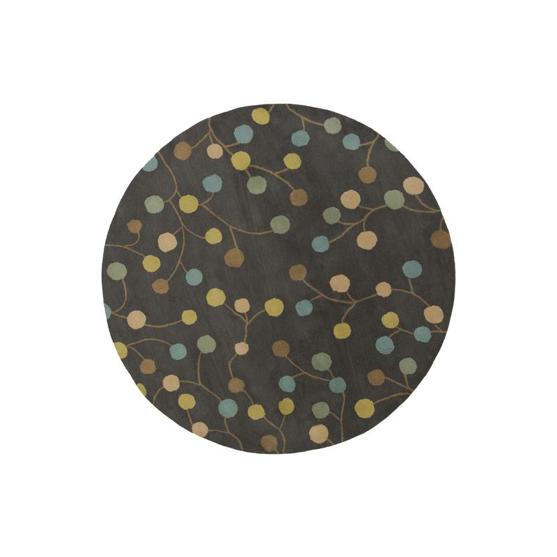 Surya ATH-5110 Athena Hand Tufted Wool Rug Gray 9 1/2 x 9 1/2 Round