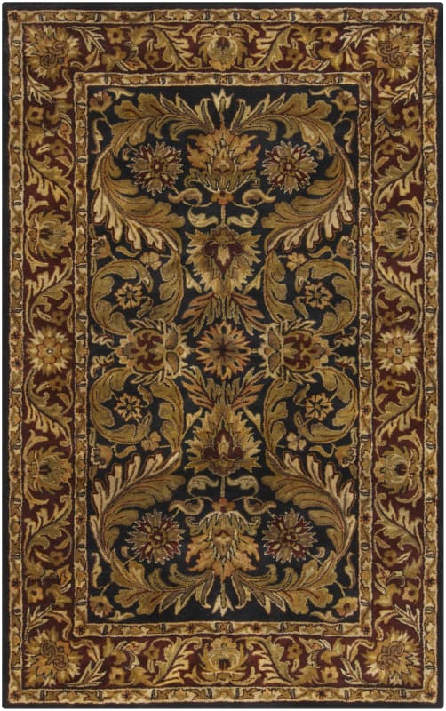 Surya A-103 Ancient Treasures Hand Tufted New Zealand Wool Rug Blue 5
