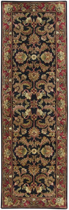 Surya A-108 Ancient Treasures Hand Tufted New Zealand Wool Rug Black 2