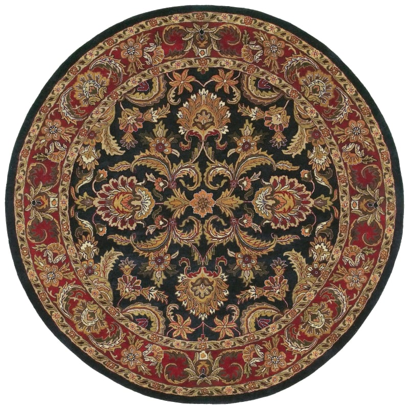 Surya A-108 Ancient Treasures Hand Tufted New Zealand Wool Rug Black 8