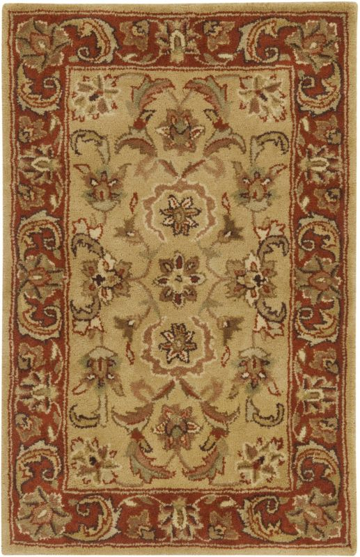 Surya A-111 Ancient Treasures Hand Tufted New Zealand Wool Rug Gold 3