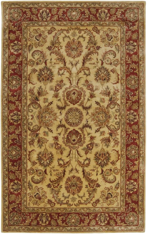 Surya A-111 Ancient Treasures Hand Tufted New Zealand Wool Rug Gold 5