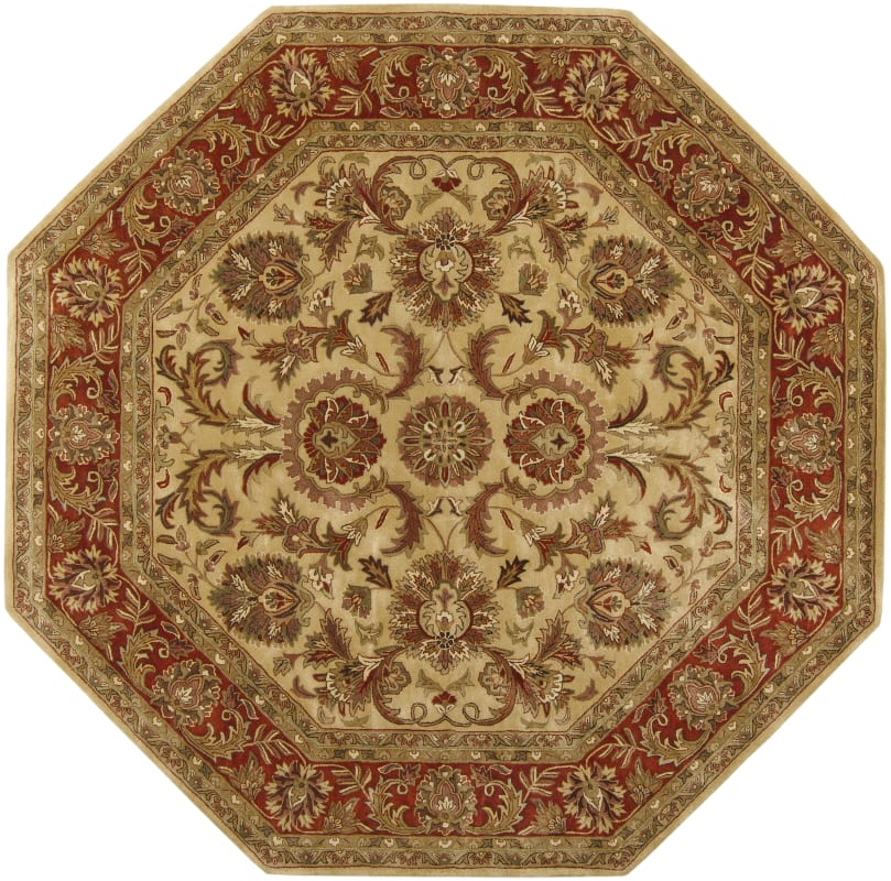 Surya A-111 Ancient Treasures Hand Tufted New Zealand Wool Rug Gold 8