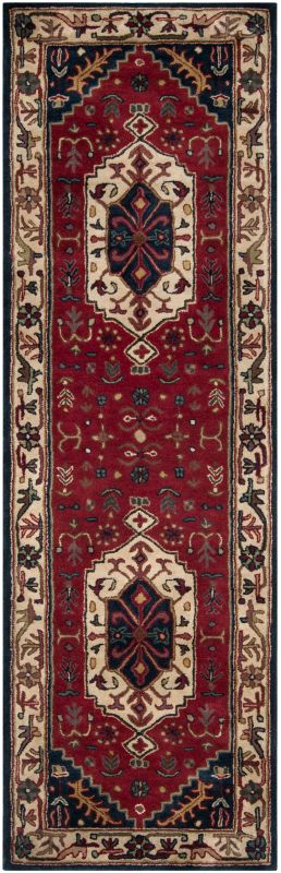 Surya A-134 Ancient Treasures Hand Tufted New Zealand Wool Rug Red 2