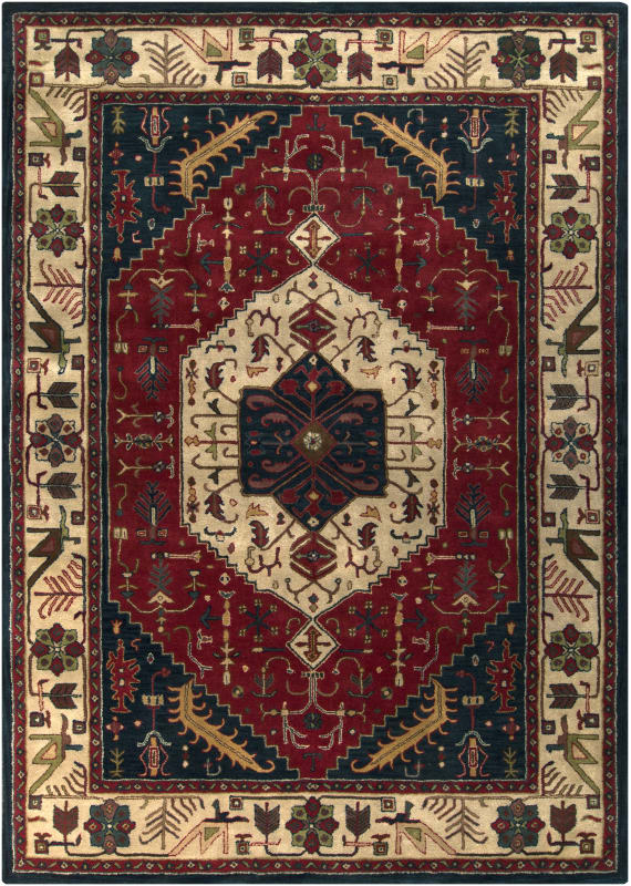 Surya A-134 Ancient Treasures Hand Tufted New Zealand Wool Rug Red 8 x