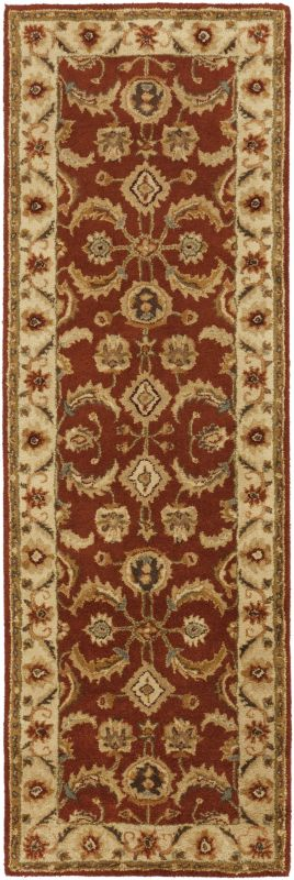 Surya A-147 Ancient Treasures Hand Tufted New Zealand Wool Rug Red 2