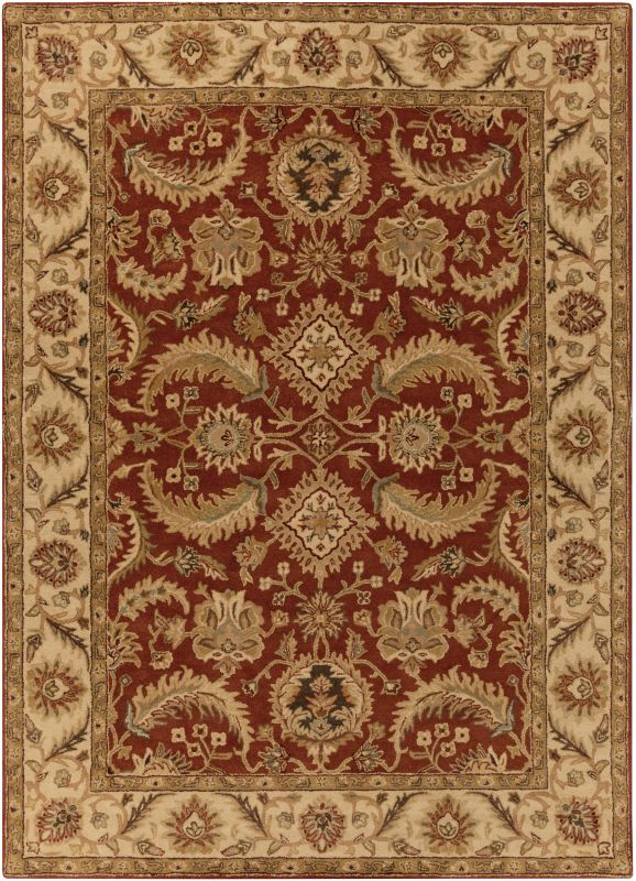 Surya A-147 Ancient Treasures Hand Tufted New Zealand Wool Rug Red 8 x