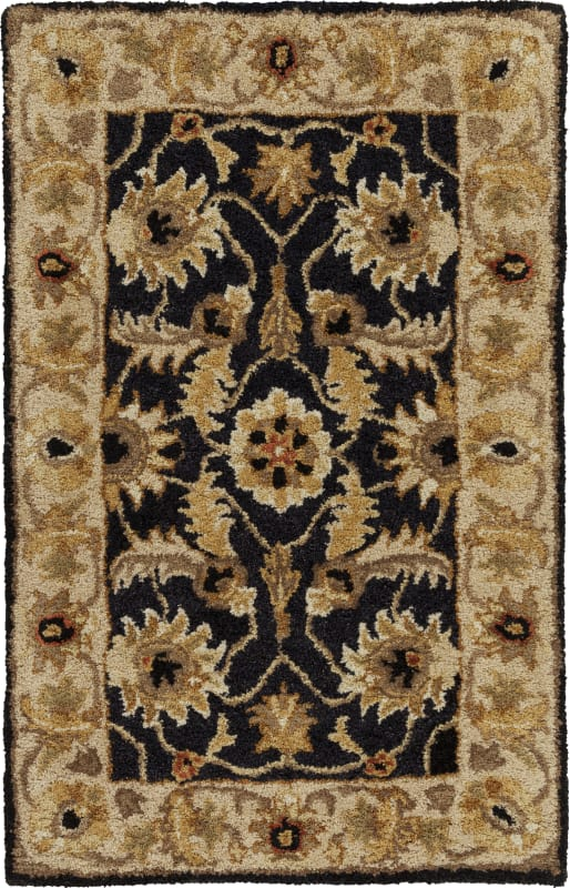 Surya A-171 Ancient Treasures Hand Tufted New Zealand Wool Rug Black 2