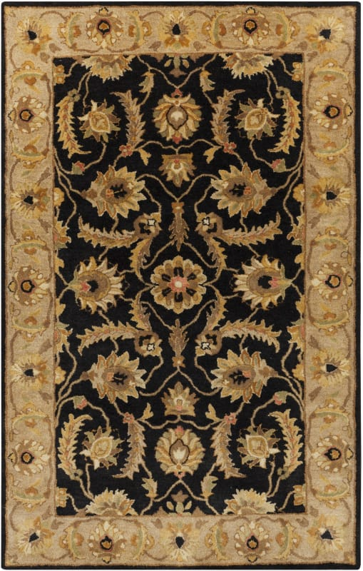 Surya A-171 Ancient Treasures Hand Tufted New Zealand Wool Rug Black 5