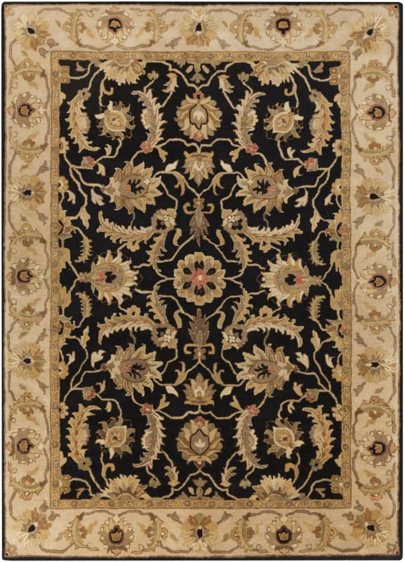 Surya A-171 Ancient Treasures Hand Tufted New Zealand Wool Rug Black 8