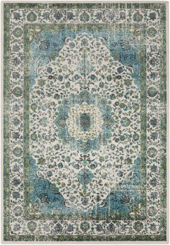 Surya ABE-8004 Aberdine Power Loomed Polypropylene Rug Green 5 x 7 1/2