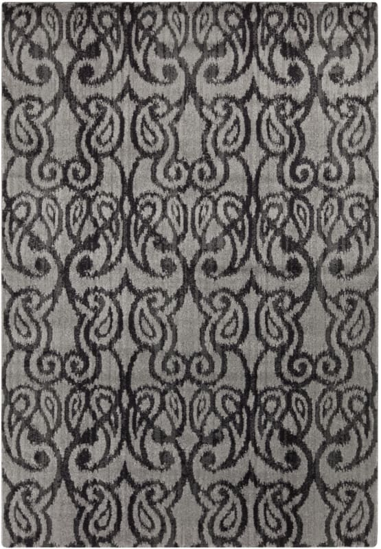 Surya ABE-8008 Aberdine Power Loomed Polypropylene Rug Gray 7 1/2 x 10